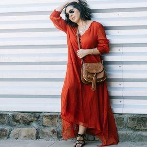 Zara Red Oversized Chiffon Dress